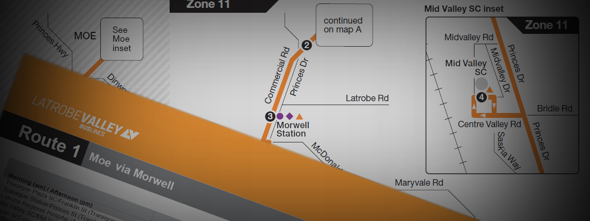 Latrobe Valley Bus Lines - Route Timetable & Route Map